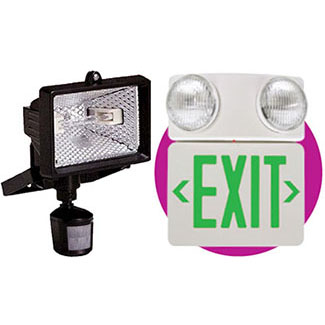 Emergency Flood Exit Lights Motion Detector